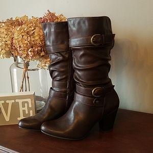 Brown women's boots from Kohl's